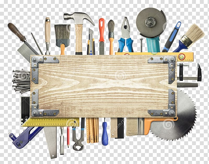 Architectural engineering carpenter tool. Carpentry clipart border
