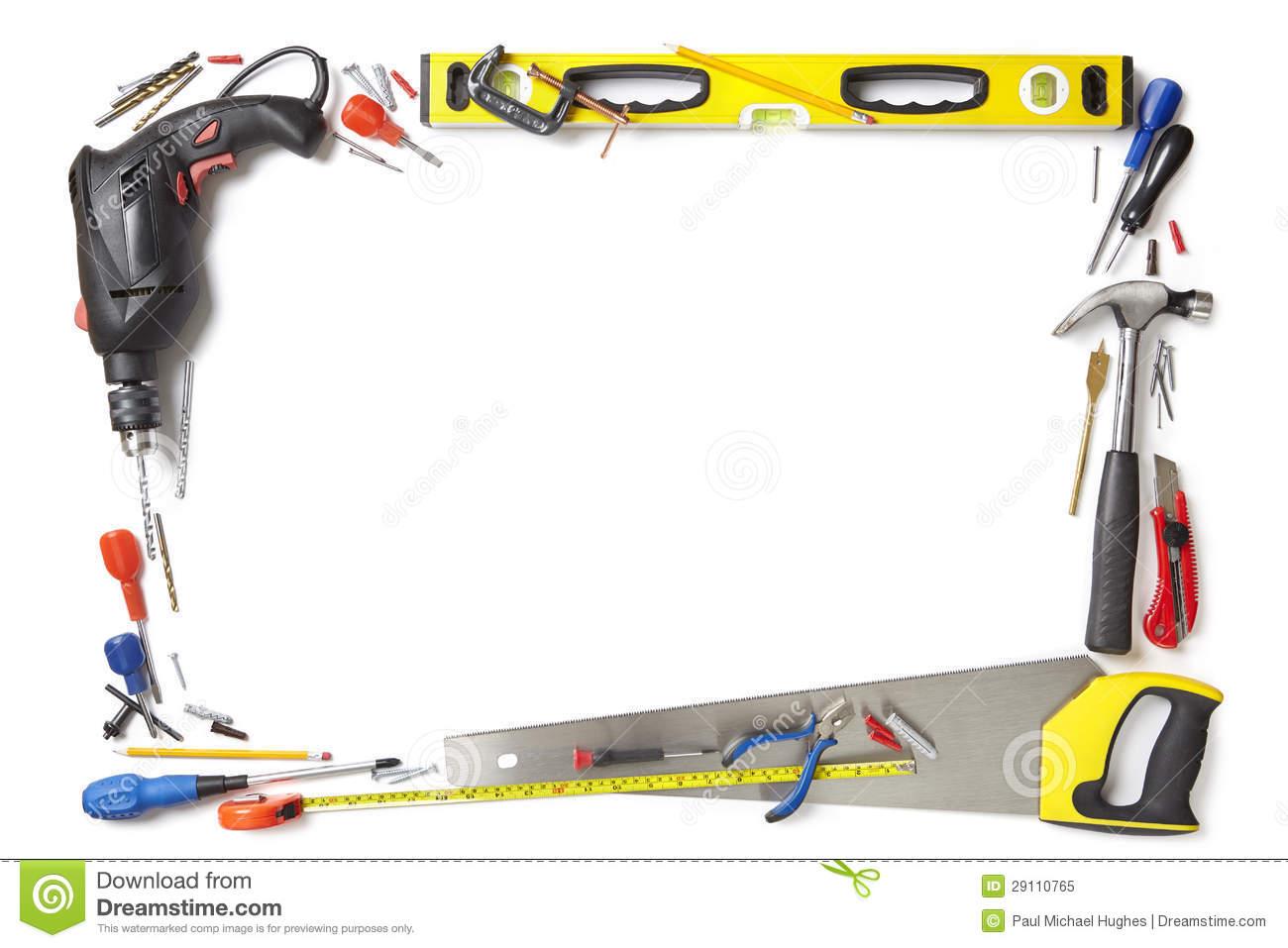 Carpentry clipart border. Handyman