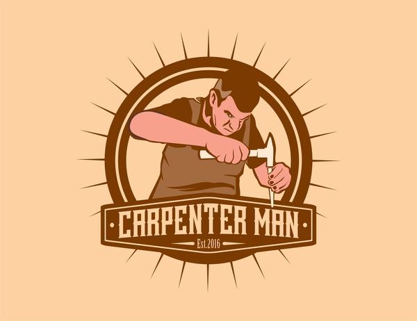 Carpenter free vector download. Carpentry clipart builder