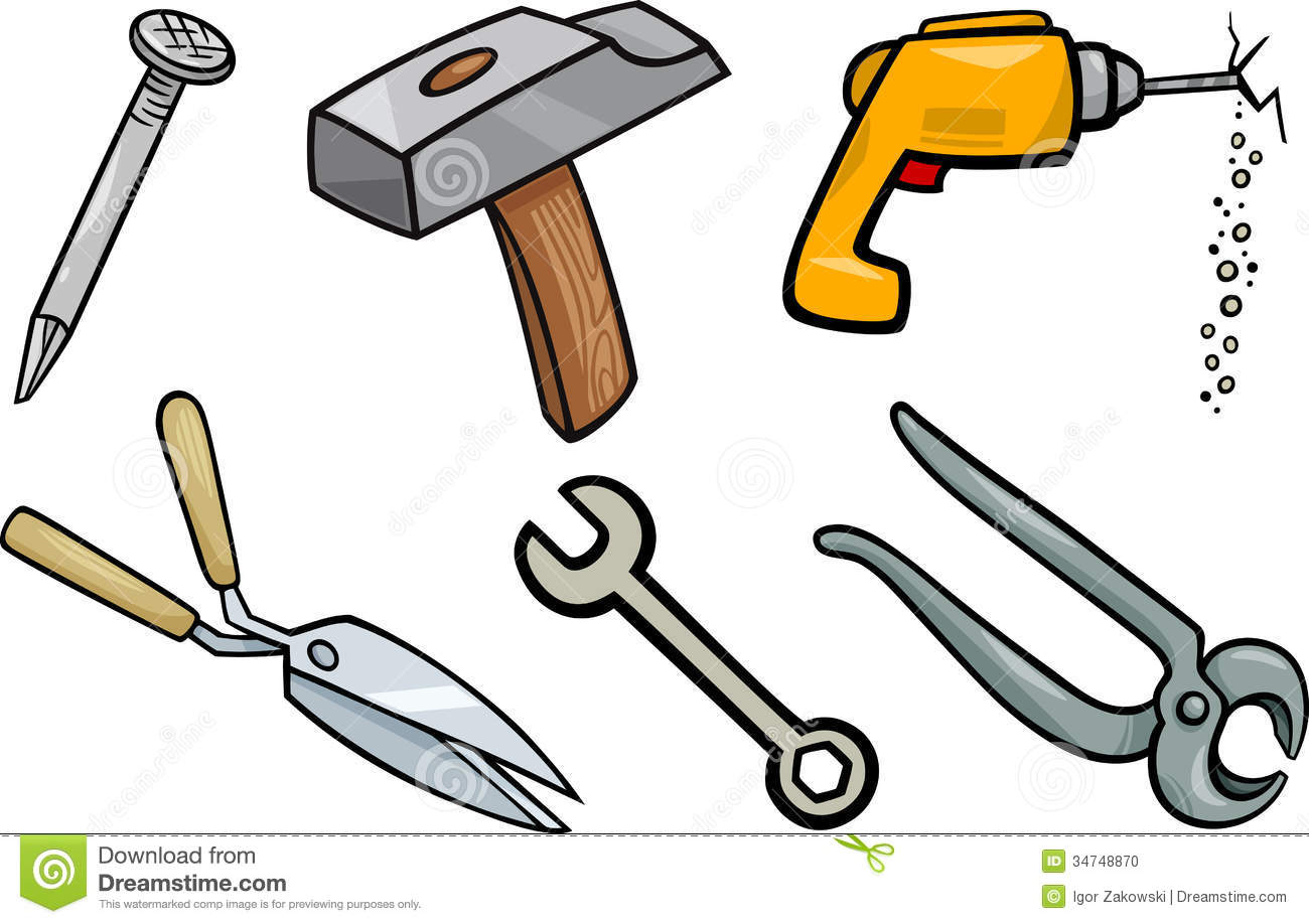 Engineering tools collection carpenters. Carpentry clipart equipment