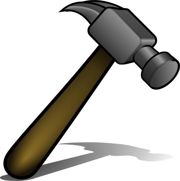 Clipart hammer big hammer. Book of woodworking tools