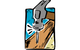 Carpentry clipart hammer nail. Png images for download