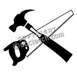 Panda free images hammerclipart. Carpentry clipart hammer saw