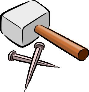 Nail engineering tool pencil. Carpentry clipart hammer saw