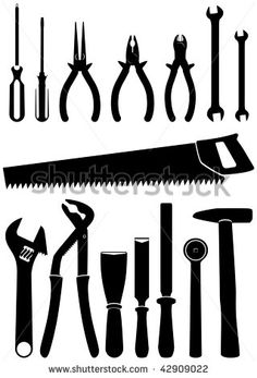 Silhouettes google search vectors. Carpentry clipart hand tool