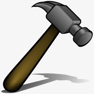 Carpentry clipart joinery tool. Animated hammer and nail