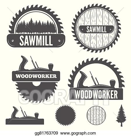 Vector illustration set of. Carpentry clipart logo
