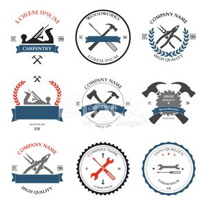Vintage tools labels and. Carpentry clipart logo