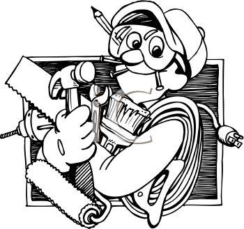 best handyman logos. Carpentry clipart maintenance man