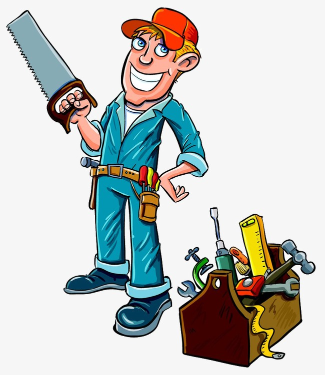 Carpentry clipart maintenance man. Workers carpenter painted png