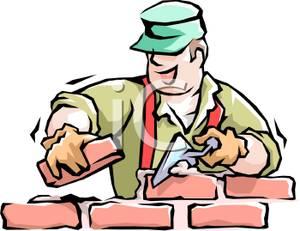 A colorful cartoon of. Carpentry clipart masonry