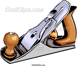 Wood vector clip art. Carpentry clipart plane tool