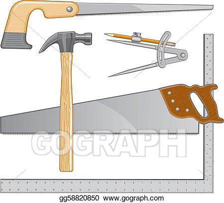 Clipart hammer carpenter. Clip art vector tools