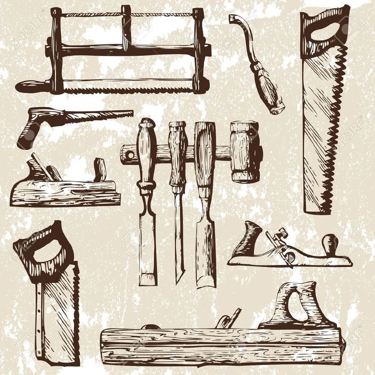 best tool contractor. Carpentry clipart vintage