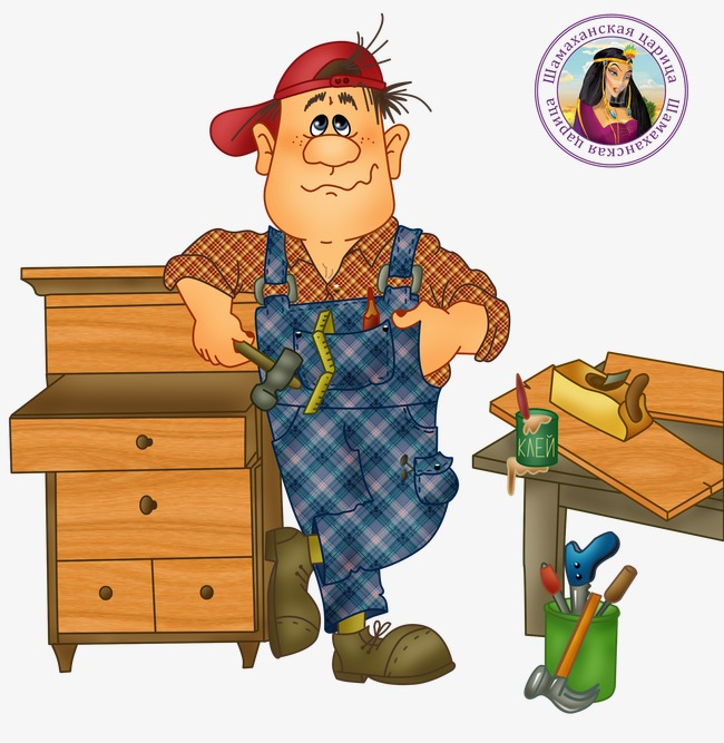 Carpenter hand painted woodwork. Carpentry clipart woodworker
