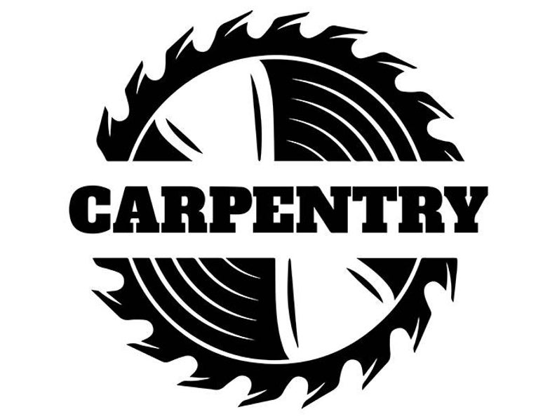 Logo saw blade carpenter. Carpentry clipart woodworking tool