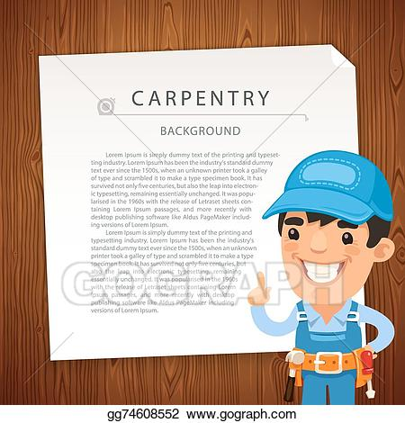 Carpentry clipart workmanship. Vector art background with