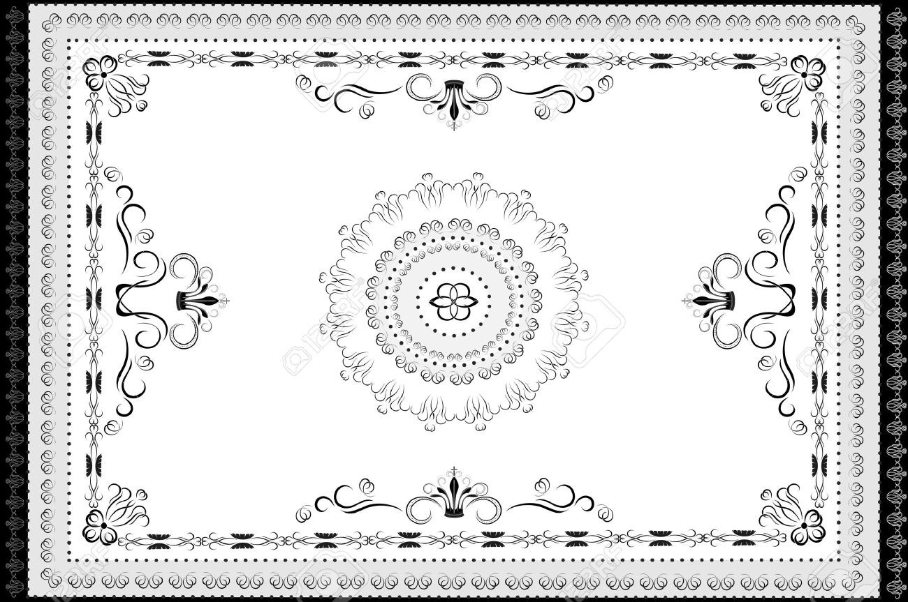 Carpet clipart black and white. Cartoon