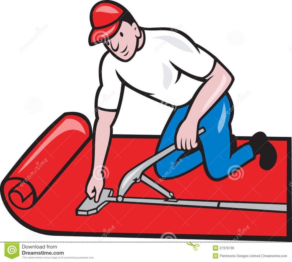 Carpet clipart carpet installation. Cartoon flooring masimes installer