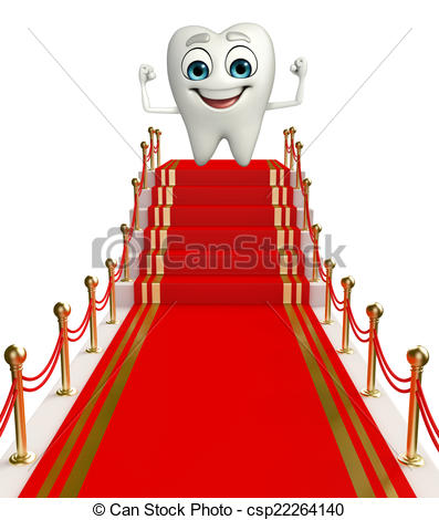 Red celebrity video stairs. Carpet clipart cartoon