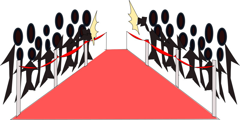 Carpet clipart clip art. Image of red photographers