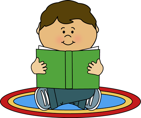 Carpet clipart elementary school. Kid reading on a