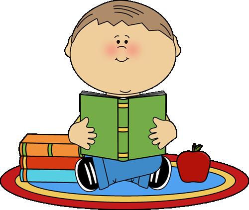 Carpet clipart elementary school. Boy reading clip art