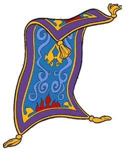 Carpet clipart flying carpet. Aladdin magic