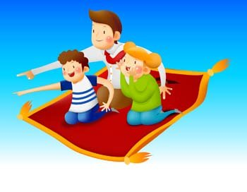 Free and vector graphics. Carpet clipart flying carpet