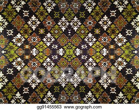 Carpet clipart grey. Drawing fragment of ornamental
