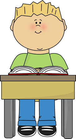Activities clipart reading. School kids clip art