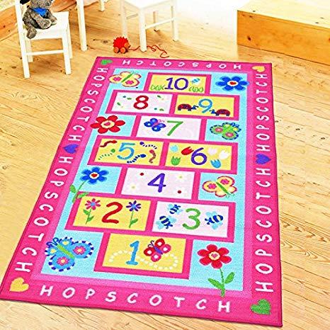 Amazon com huahoo girls. Carpet clipart pink rug