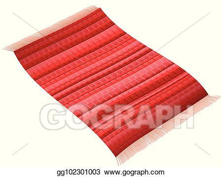 Vector stock flying rag. Carpet clipart red rug