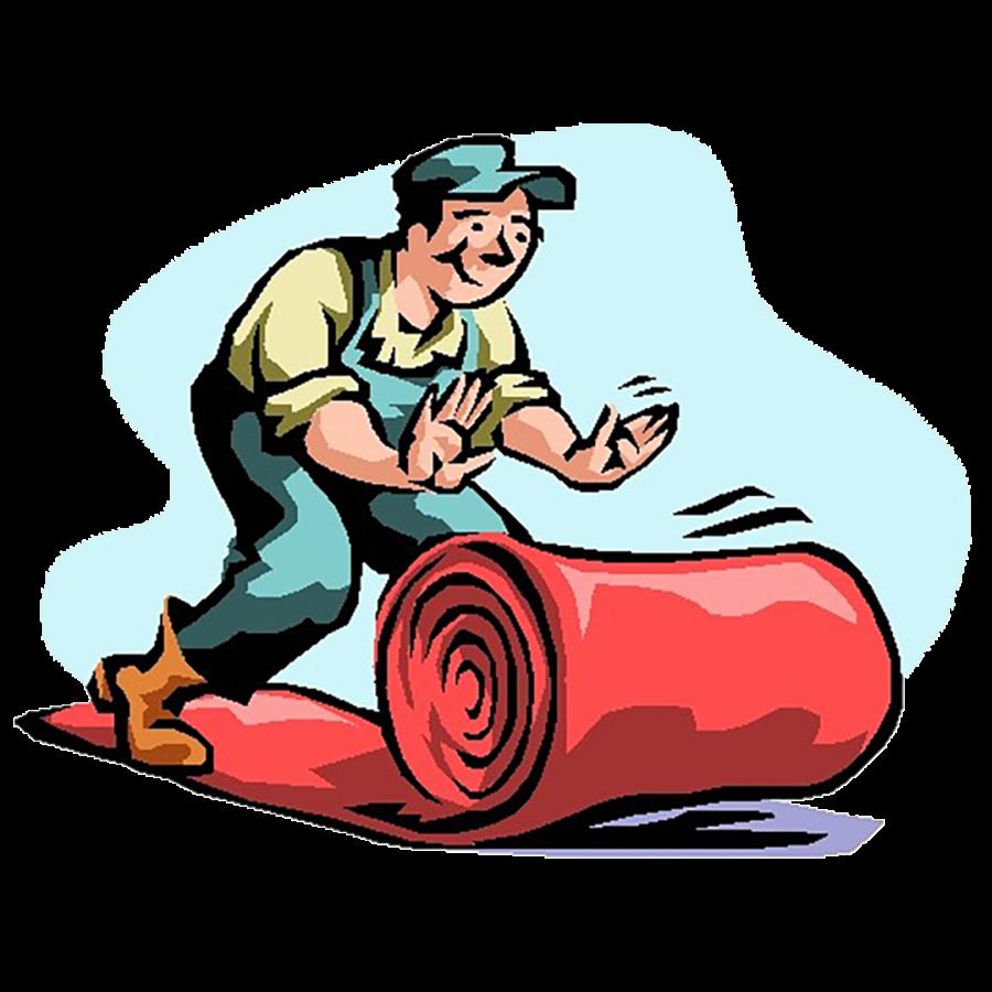 Fitter illustration . Carpet clipart rolls