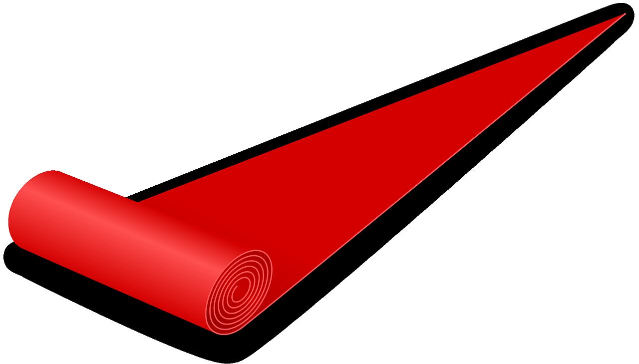 Carpet clipart rolls. Red gala
