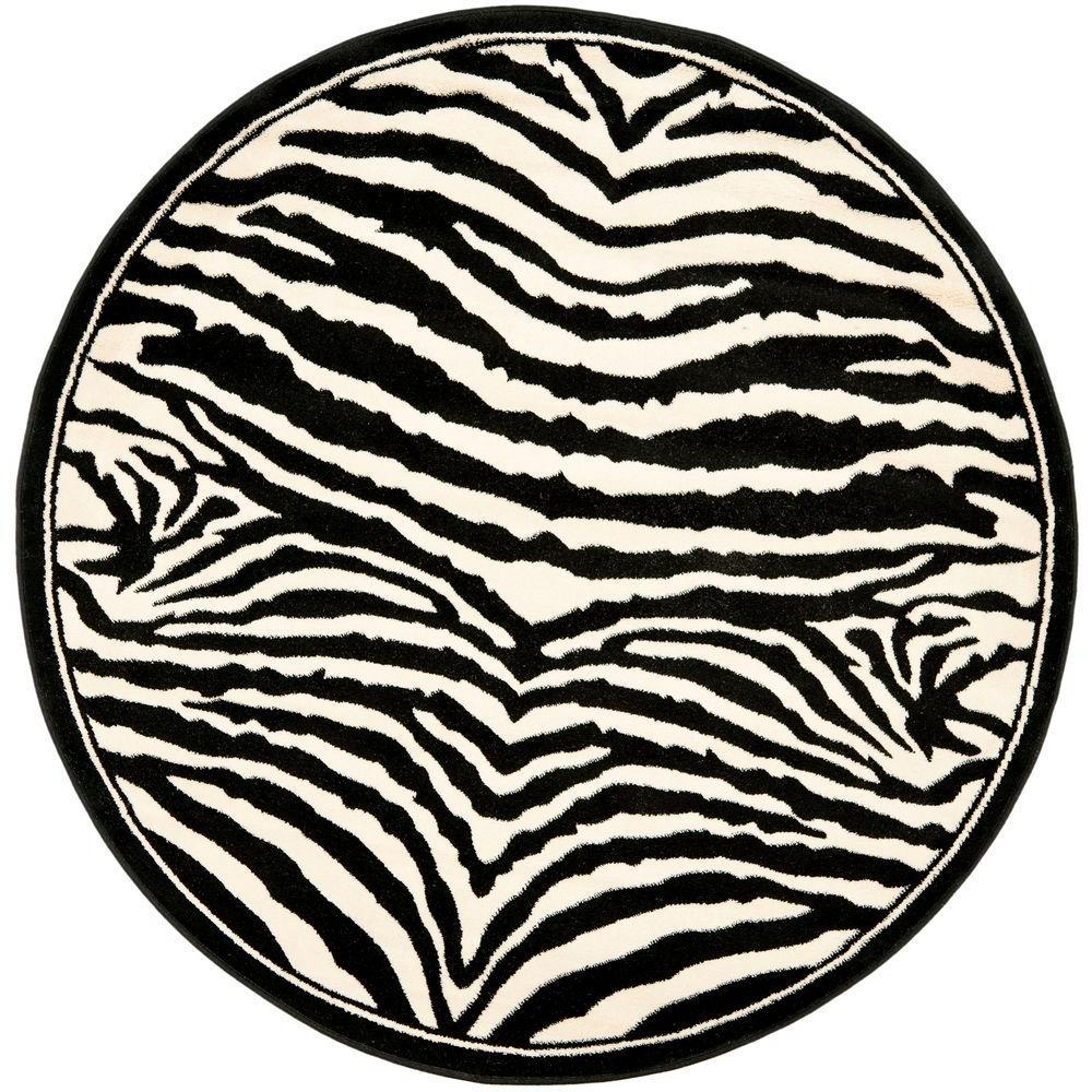Carpet clipart round carpet. Safavieh lyndhurst white black