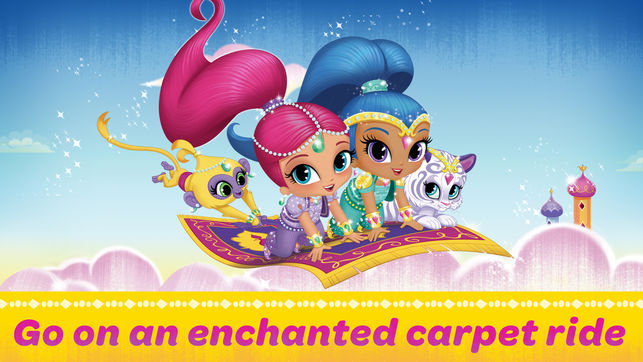 Enchanted ride game on. Carpet clipart shimmer and shine