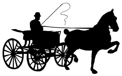 Horse drawn . Carriage clipart