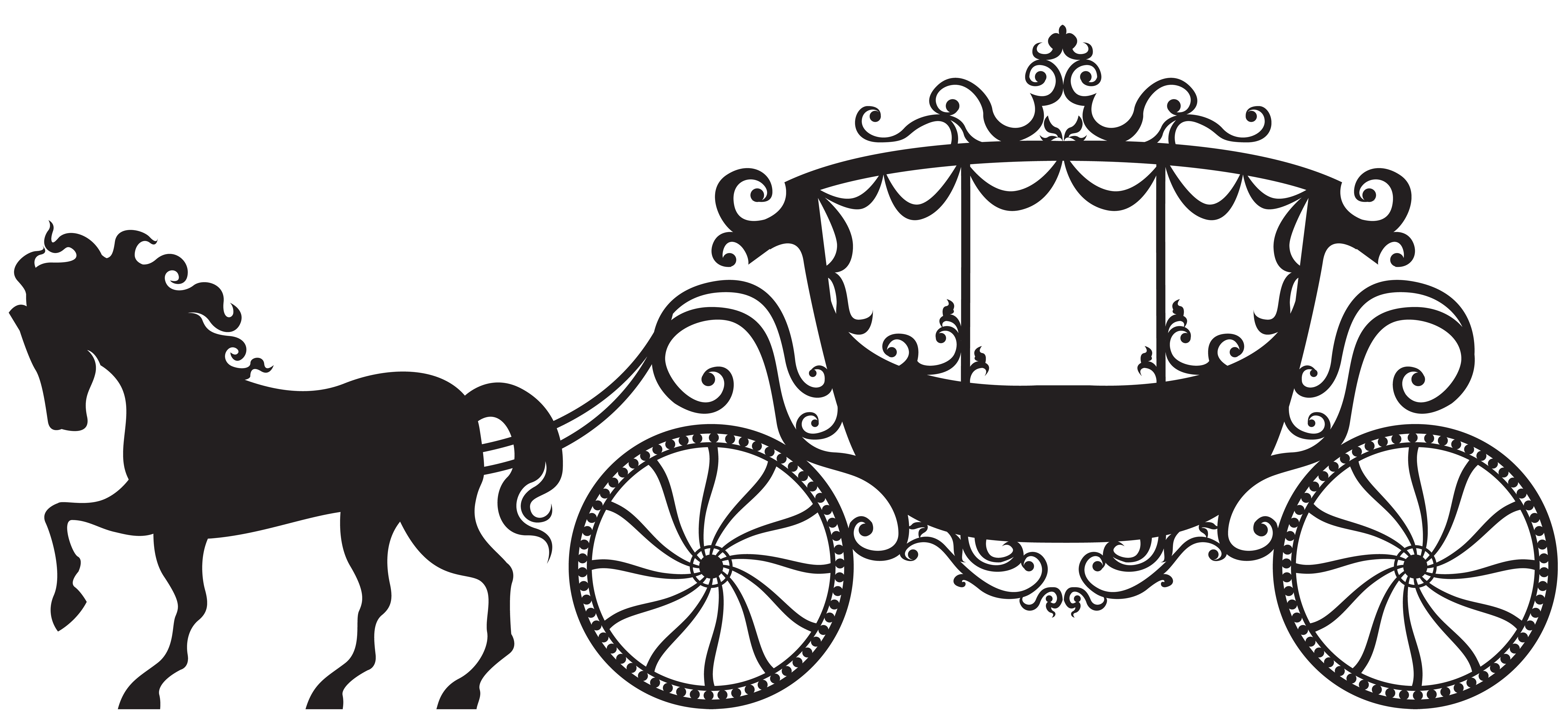Wagon clipart old transportation. Carriage silhouette png clip