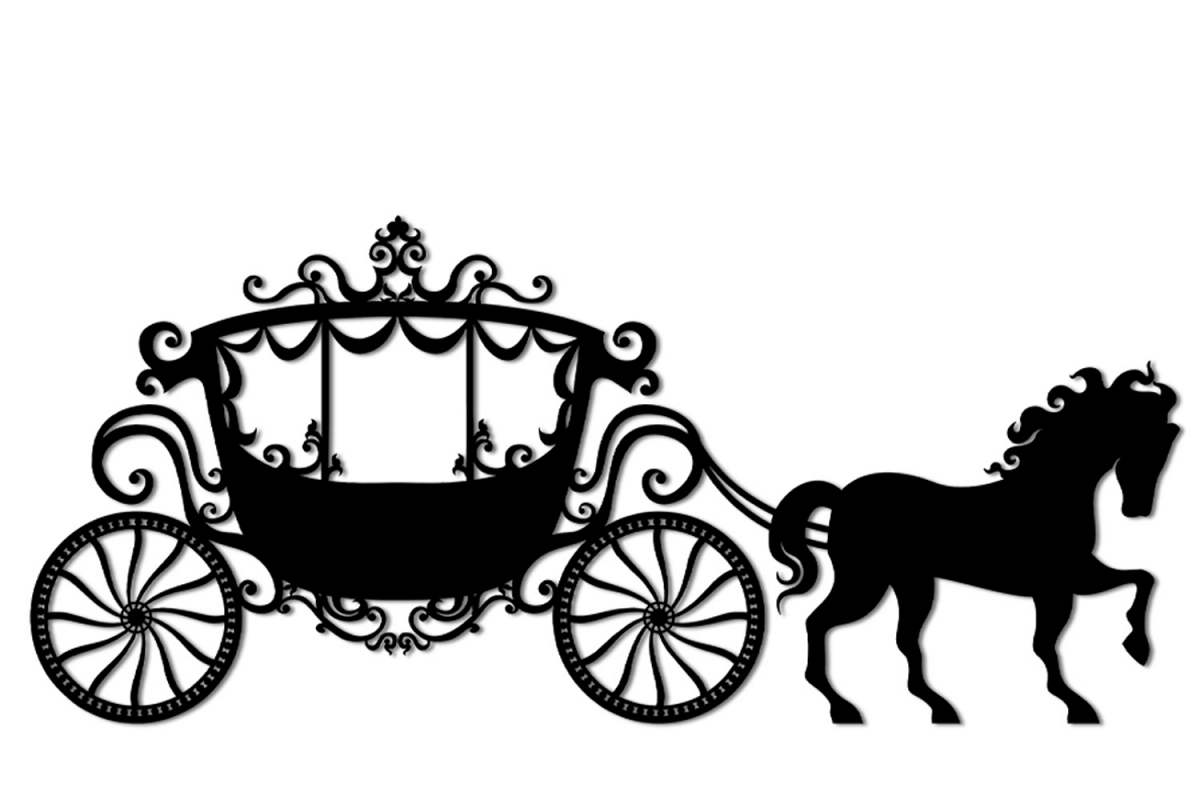 Svg and png cutting. Carriage clipart