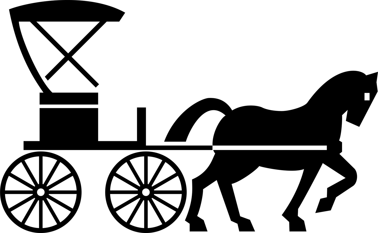 Wagon clipart buggy. Baby carriage silhouette clip