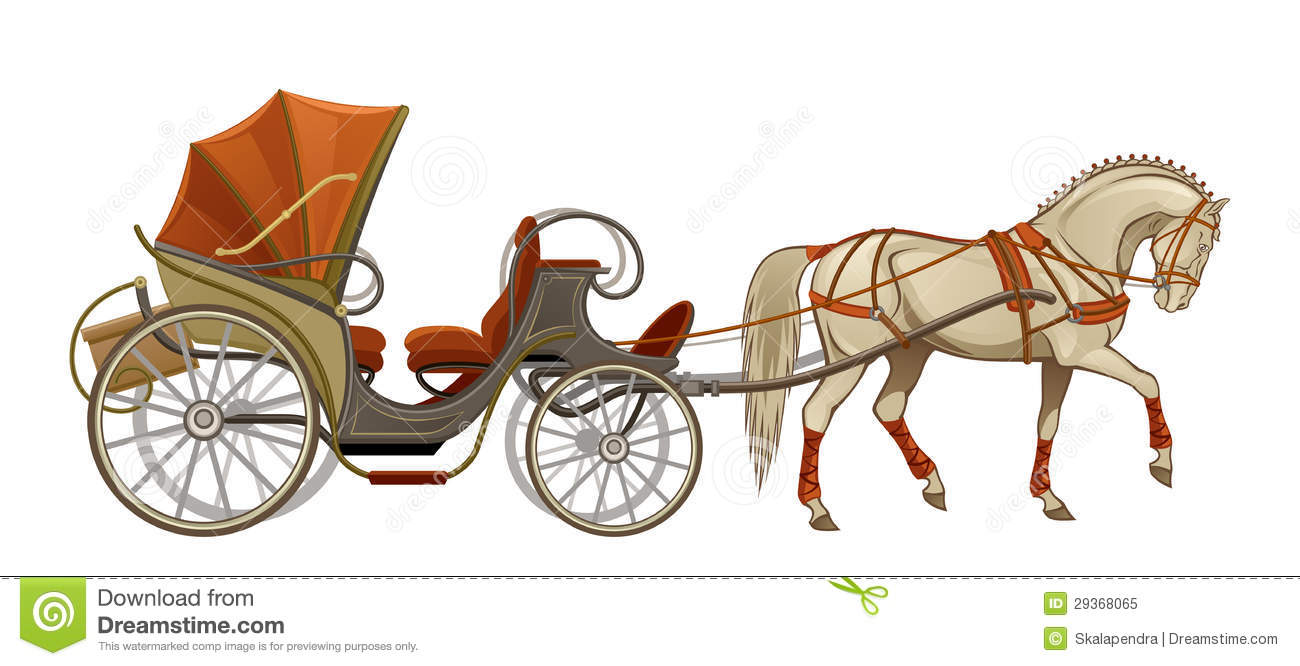 Horse group stock illustrations. Carriage clipart animated