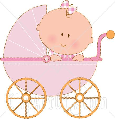Carriage clipart animated. Baby girl