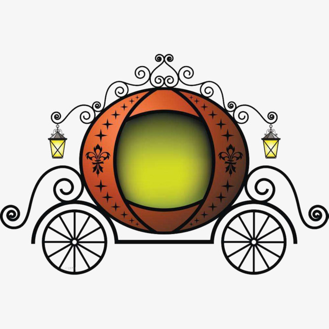 Carriage clipart animated. Cartoon classic pumpkin the