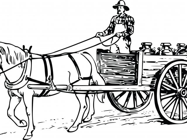 Horse drawn free on. Carriage clipart black and white
