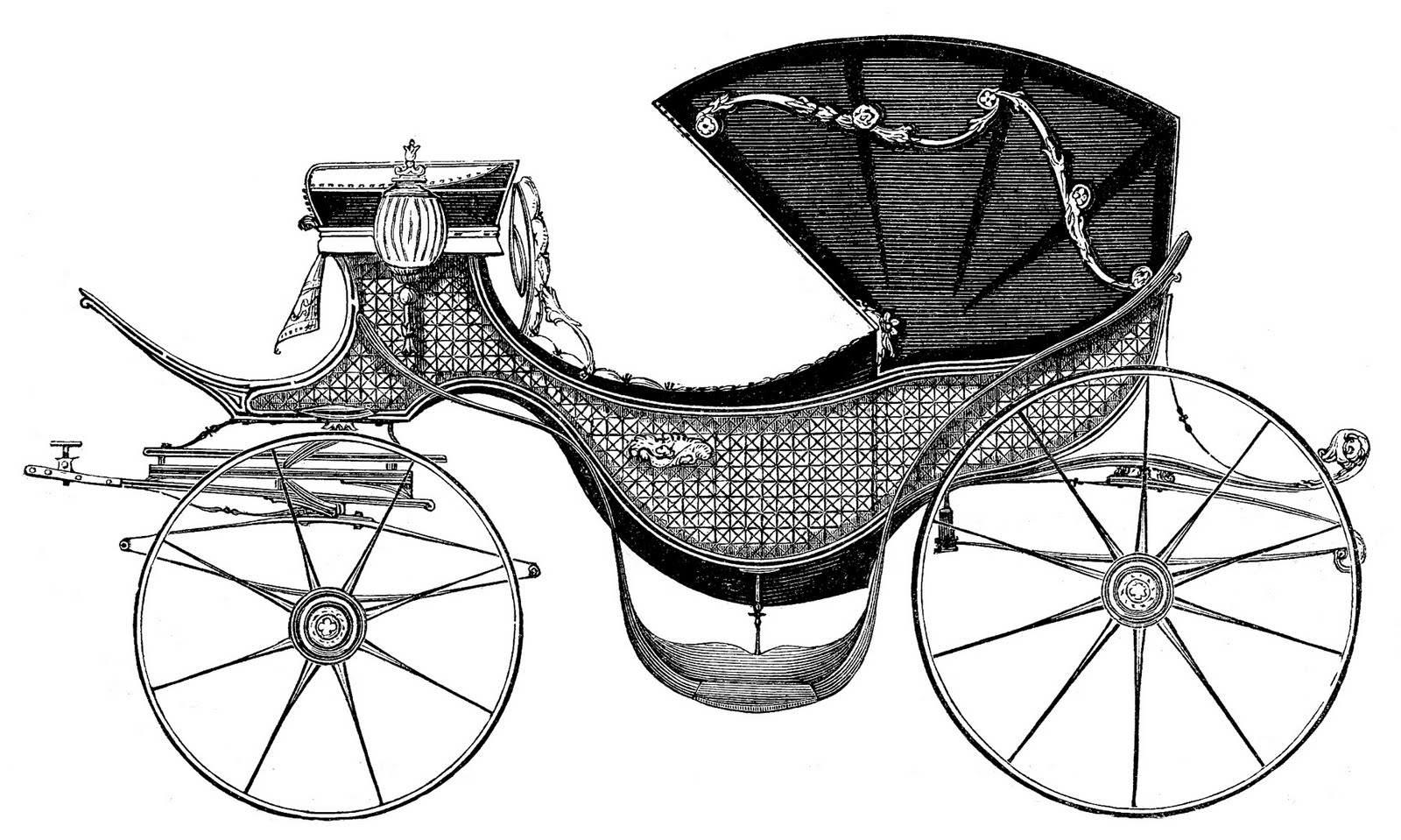 Carriage clipart black and white. Antique clip art fit