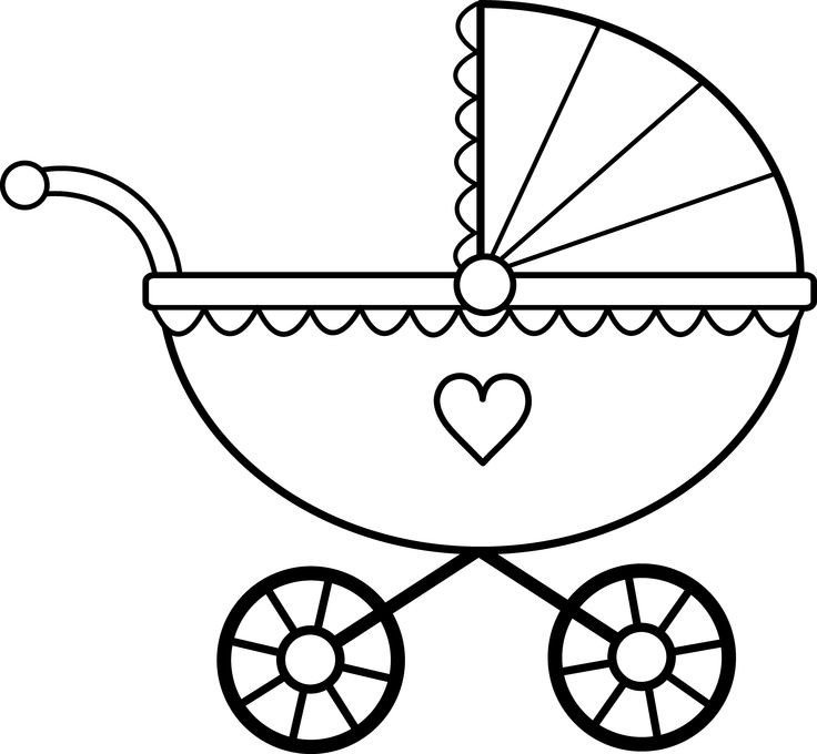 Carriage clipart black and white.  collection of baby