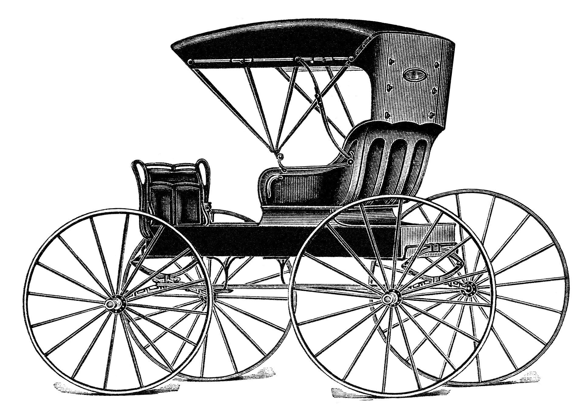 Vintage horse buggy clip. Wagon clipart old time
