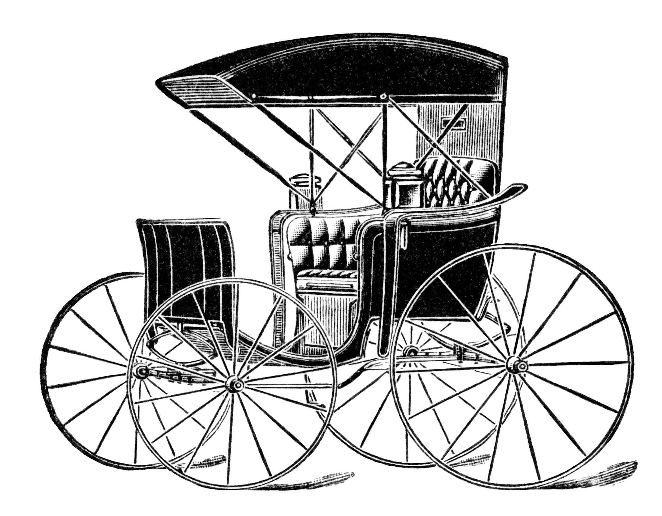 Horse drawn carriage ad. Wagon clipart old transportation