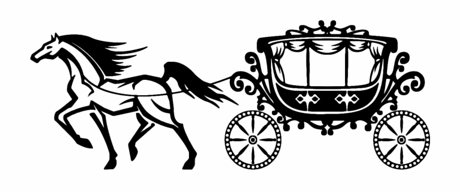 Carriage clipart black and white. Cinderella pumpkin clip art